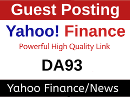 Publish Press Release/Article on Yahoo Finance, Yahoo News DA 93
