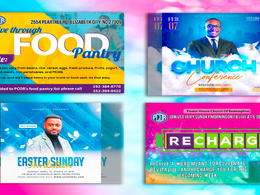 Design church  flyer or poster