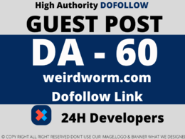 Publish a Guest Post on weirdworm/weirdworm.com DA 60