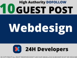 Publish 10 webdesign/development Guest Posts Dofollow links