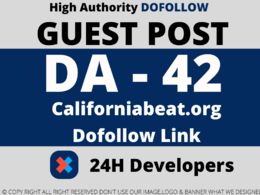 Publish guest Post on  Californiabeat.org  DA-42