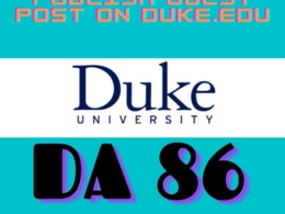 Write and PublishGuest Post on Duke University. Duke.edu - DA 86