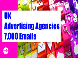 UK Advertising Agencies Email list, 7K Email Addresses Database
