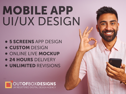 Design mobile app UI/UX screens with unlimited revisions