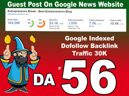 General Guest post on Google News Blog traffic 15k DA 56