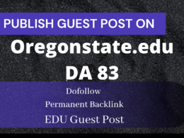 Write and Publish Guest Post on Oregonstate.edu University DA 83