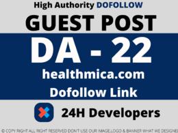 Publish a Guest Post on healthmica/healthmica.com  DA 22