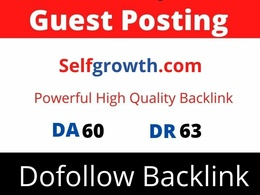 Publish guest post on Selfgrowth DA 62 with Dofollow link