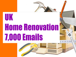 UK Home Renovation Email list Email database 7K email addresses
