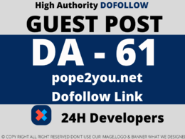 Publish a Guest Post on pope2you/pope2you.net DA 61