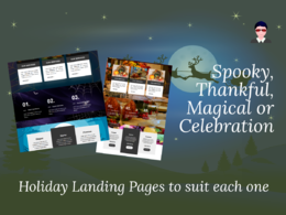 Create a stunning special event holiday season landing page