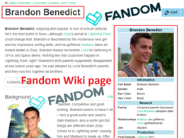Create Fandom Wiki Biography Page