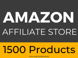 ✅ Amazon Affiliate Website with 1500 Products using WordPress