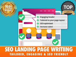 SEO LANDING PAGES (750 WORDS - DIRECT RESPONSE COPYWRITING)