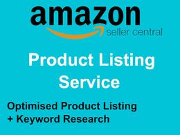 List/Create 1 Product to Amazon Optimised + Keyworded