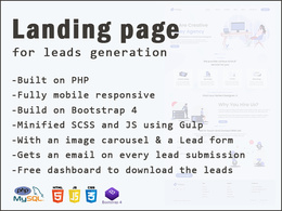 Develop a PHP Landing page for lead generation