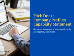 Write your company profile, pitch deck, or capability statement
