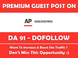 Guest Post/ Press Release on APNEWS. APNEWS.com DA91 Dofollow