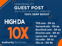 10X Guest Posts on Powerful Dofollow High Authority Domains