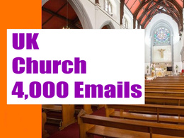UK Church Email list, Email database, 4K Email Addresses