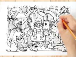 Draw a pencil sketch for you