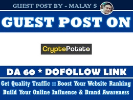 Guest post on Cryptopotato. Cryptopotato.com DA60