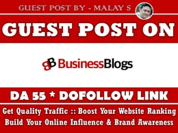 Guest post on Businessblogshub. Businessblogshub.com DA55