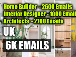 UK Email database of Home Builder Interior Designers Architects