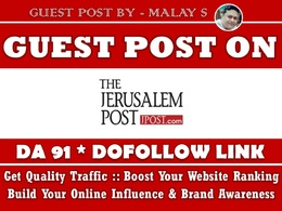 Guest Post on Jpost. Jpost.com - DA 91 - Dofollow Backlink