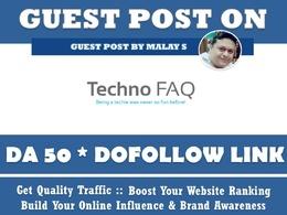 Guest post on Technofaq. Technofaq. org DA50