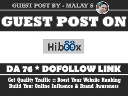 Guest post on Hiboox. Hiboox.com DA76 Google News Approved