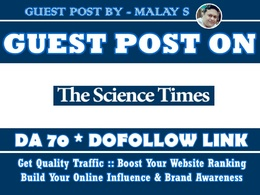 Guest post on ScienceTimes. Sciencetimes.com DA70 Dofollow Link