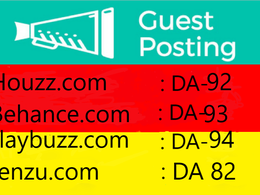 Guest Post on Houzz, Behance, Playbuzz & Penzu with Backlink