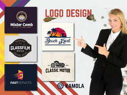 Design logo with 5 initial concepts including all quality work