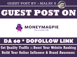 Guest Post on Moneymagpie. Moneymagpie.com DA60
