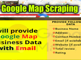 Do google map scraping, business leads  scrape from google map