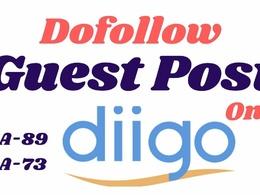 Publish Dofollow Guest Post On diigo DA-89, DR-85