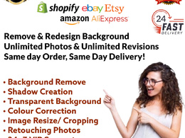 Remove Background, Amazon Product Editing 50 photos