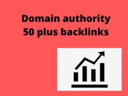 Manual Domain authority 40 + High authority backlinks building