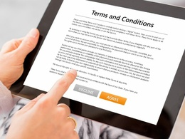 Provide Terms and Conditions & Privacy Policy GDPR Compliance