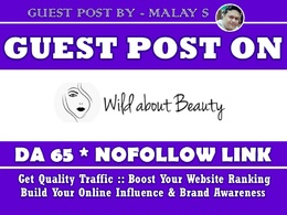 Guest post on Wildaboutbeauty. Wildaboutbeauty.com DA65