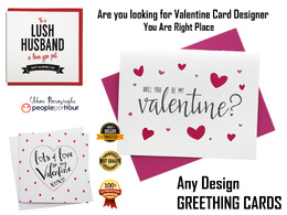 Do Valentine, new year, anniversary & any card design in 6 hours