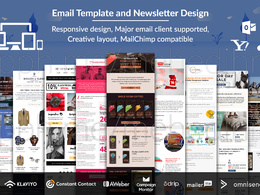 Design responsive email template or newsletter for any platform
