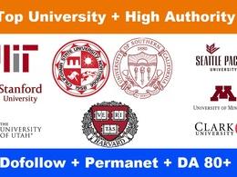 10 EDU Guest Post Backlinks From USA Universities DA 80+