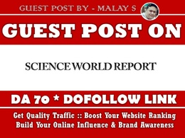 Guest post on Scienceworldreport. Scienceworldreport.com – DA70