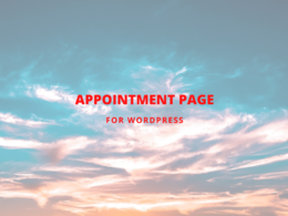 Create appointment page for WordPress