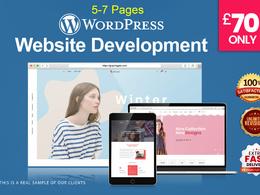 Design & develop an amazing 5-7 pages wordpress website