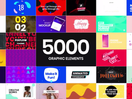 You will get the best library 5000 unique  motion graphics tool