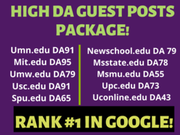 Write and Publish 10 EDU guest posts DA 50+ with Dofollow links