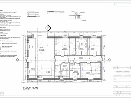 2D cad drawings ( Floor plans + elevations + sections + details)